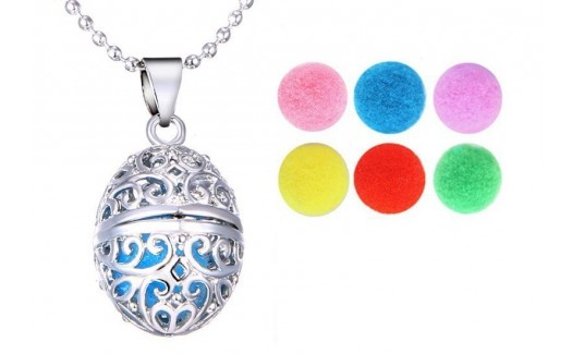 Locket Necklace of Aromatherapy Oval charm