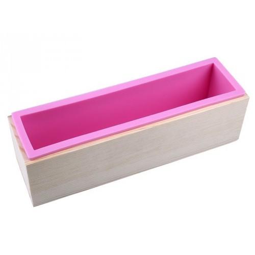 moule pour savon en silicone rectangulaire et bo te. Black Bedroom Furniture Sets. Home Design Ideas