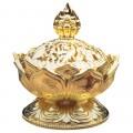 Brûleur pour Résine d'Encens Lotus (Doré)