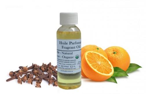 Huile Parfumée Naturelle Orange et clou de girofle Biologique